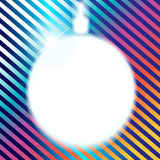 The Christmas ball is a background. Stock Image