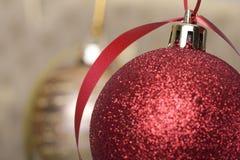 Christmas ball background Stock Photos