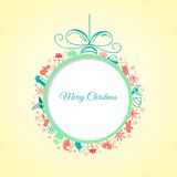 Christmas ball background abstract Royalty Free Stock Images