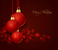 Christmas ball. Background with christmas balls with place for text Stock Photos