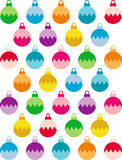 Christmas ball background. Colorful Christmas ball ornaments repeating on white background Royalty Free Stock Photos