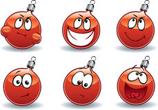 Christmas ball-ball emoticons Stock Photography