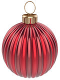 Christmas ball bauble New Years Eve decoration red Royalty Free Stock Photos
