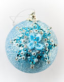 Christmas ball with beads Royalty Free Stock Images