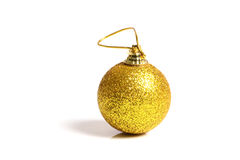 Christmas ball. Beautiful shot of christmas ball on white background Stock Photography