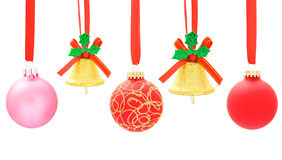 Christmas ball and bell Royalty Free Stock Photo