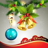 Christmas ball with bells Royalty Free Stock Image