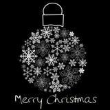 Christmas ball on black Stock Images