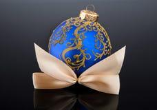 Christmas ball on black background Stock Photography