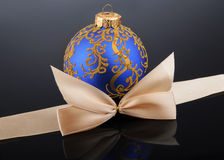 Christmas ball on black background Royalty Free Stock Photos