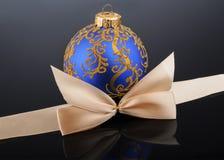 Christmas ball on black background Stock Photo