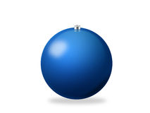 Christmas ball blue. Blue Christmas ball. Computer generated (clipping path Stock Photography