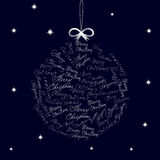 Christmas ball on blue background Royalty Free Stock Photo