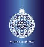 Christmas ball_blue Stock Photos