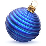 Christmas ball blue cyan New Year`s Eve decoration bauble Royalty Free Stock Photography