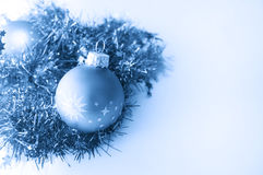 Christmas ball in blue decoration Stock Image