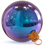 Christmas ball blue decoration bauble New Year`s Eve adornment Royalty Free Stock Photos