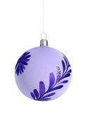 Christmas ball. Blue christmas ball isolated on white background Royalty Free Stock Photo