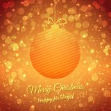 Christmas Ball. Blurred Festive Vector Background. Merry Christmas And Happy Holidays. Greeting Card. This is file of EPS10 format Royalty Free Stock Photo