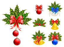 Christmas ball with bow Stock Image