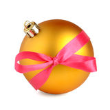 Christmas ball with bow Royalty Free Stock Photography