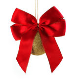 Christmas Ball With Bow Stock Images