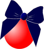 Christmas ball with bow Stock Photos