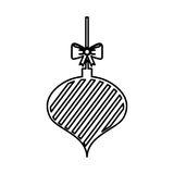Christmas ball with bow hanging. Vector illustration design Royalty Free Stock Photos