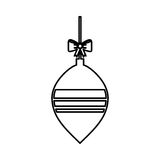 Christmas ball with bow hanging. Vector illustration design Stock Photos