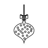 Christmas ball with bow hanging. Vector illustration design Royalty Free Stock Photography