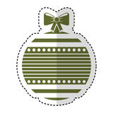 Christmas ball with bow hanging. Vector illustration design Royalty Free Stock Photo