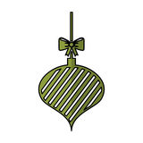 Christmas ball with bow hanging. Vector illustration design Stock Photo