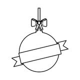 Christmas ball with bow hanging. Vector illustration design Royalty Free Stock Images