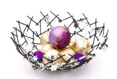 Christmas ball in bowl Royalty Free Stock Photography