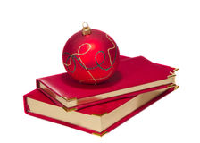 Christmas ball on calendars Stock Image