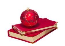 Christmas ball on calendars Stock Image