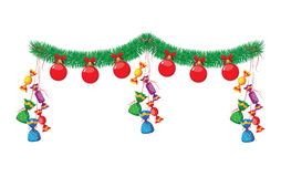 Christmas ball and candy Royalty Free Stock Photo
