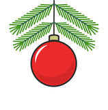 Christmas ball cartoon icon Stock Photography