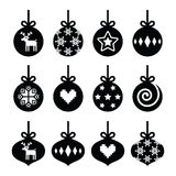 Christmas ball, christmas bauble  icons set Royalty Free Stock Photography