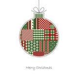Christmas ball - Christmas Card Vector Stock Image