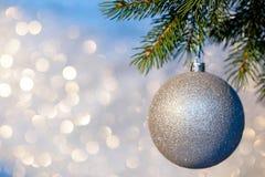 Christmas Ball on a Christmas Tree Royalty Free Stock Photography