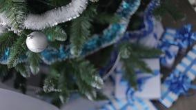 Christmas Ball on Christmas Tree stock video