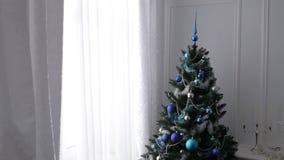 Christmas Ball on Christmas Tree stock video footage