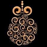 Christmas ball, Christmas tree decorations. New Year`s backdrop royalty free illustration