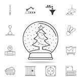 Christmas ball with a Christmas tree icon. Detailed set of web icons and signs. Premium graphic design. One of the collection icon Royalty Free Stock Photography