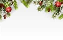 Christmas ball and Christmas tree Royalty Free Stock Photos