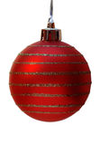 Christmas ball, clipping path. Red christmass ball isolated on white background, clipping path Royalty Free Stock Photos