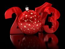Christmas ball 2013  (clipping path included) Stock Images