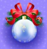 Christmas ball-clock Royalty Free Stock Photography