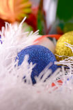 Christmas ball close up, new year decorations Stock Photos